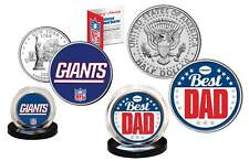 Best Dad - NEW YORK GIANTS 2-Coin Set US Quarter & JFK Half Dollar NFL LICENSED