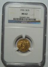 New listing = 1926 Ms62 Ngc $2.50 Indian Gold, Free Shipping