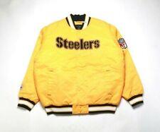 VINTAGE 2008 REEBOK Men's Satin Jacket 5264H-265 PITTSBURGH STEELERS