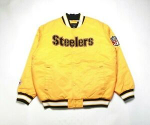 VINTAGE 2008 REEBOK Men's Satin Jacket 5264H-265 PITTSBURGH STEELERS
