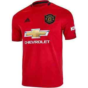 adidas 2019-20 Manchester United Home YOUTH Soccer Jersey DW4138 Size YOUTH LRG