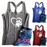Women Dog Paw Love Tank Tops Dog Mom Shirt T-shirt Sleeveless Top Vest Plus Size