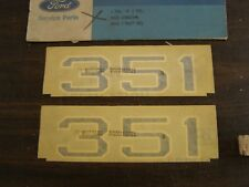 NOS OEM Ford 1970 Mustang Mach 1 351 Hood Decal Pair Stickers Emblems