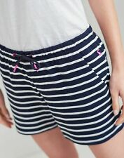 Joules Womens Elle Jersey Stripe Shorts - Navy Cream Stripe - 18