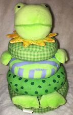 Rich Frog Little Stacker Frog Green Stacking Activity Toy Cloth Stuffed Rattle