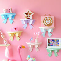 Ins Wooden Storage Rack Clapboard Butterfly Photo Wall Shelves Kids Room Decor