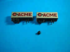 N SCALE 2 ACME  26' PUP TRAILERS FASTER FREIGHT ONE NEEDS TLC