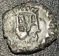 1581-1587 France Silver Liard Henri III de Navarre Rare Medieval French Coin