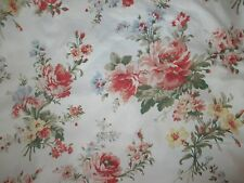 Ralph Lauren Home Petticoat Ivory Floral French Country FULL Fitted Bed Sheet