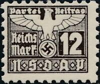 Stamp Germany Revenue Parteitag WWII 1935 3rd Reich War Era Party Due 012 MNG