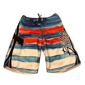 Billabong Boys Kids Board Shorts Swimming Surfing Stripe Size 14 Years