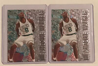 1996-97 Fleer Metal Antoine Walker Boston Celtics Rookie Card #153 RC Lot Of 2