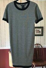 Escada Margaretha Ley 100% Wool Knit Dress Black White Size 34 US-6