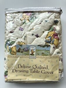 Classic Winnie The Pooh Deluxe Quilted Dressing Table Pad Cover 17x34 Hunny Pots