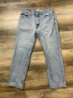 Heavily Distressed Levi's 550 Light Wash Jeans Size 34 x 30 Thrashed Grunge