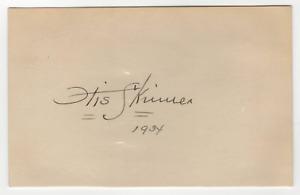 Otis Skinner signed autographed index card! RARE! Guaranteed Authentic! 989