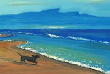 LE #1 4X6 POSTCARD RYTA DACHSHUND SEASCAPE SUMMER VACATION DOG ART OCEAN SEASIDE
