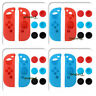 Soft Silicone Protective Cover Case for Nintendo Switch with 6 Thumb Grips Caps