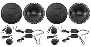 "2-Pairs Hifonics ZS65C 6.5"" 400 Watt Component Car Audio Speakers"