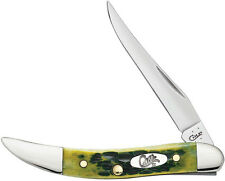 "Case Cutlery Sm Texas Toothpick Green Apple Knife 10282 610096SS pattern. 3"" clo"
