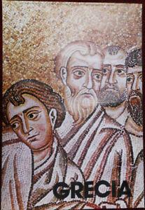 Original Poster Greece Mosaic Hosios Loukas Christ Washing Feet Apostles 1976