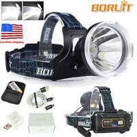 90000LM XM-L2 LED Headlamp Headlight Micro USB Rechargeable Head Torch 18650 Kit