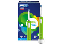 Oral-B Junior Electric Rechargeable Toothbrush Powered by Braun, Ages 6+  Green