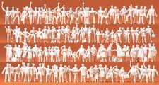 Preiser 16325 échelle H0 Figurines,Personnel cheminot et Voyageurs non peinte #
