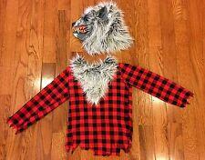Boys Warewolf Costume / Halloween ~ Size MED 8/10 ~ Mask/Shirt~Ret$29 EUC