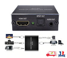 Convertisseur HDMI Audio Extracteur 4K HDMI vers HDMI Optique TOSLINK SPDIF 3.5m