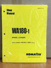 Heavy equipment manuals books for komatsu wheel loader ebay komatsu wa180 1 wheel loader shop service repair manual fandeluxe Images