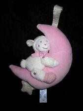 Doudou musical boite à musique Mouton Agneau blanc Lune rose Nicotoy Simba
