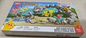 New Mega Construx Pokemon Onix Super Battle Pikachu Ekans Meowth Porygon Staryu