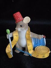 Enesco Charming Tails Mice You'Re Always Sewing Fashion Ornament 2009
