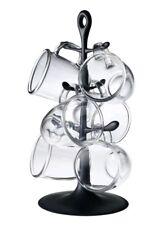 Bodum 6 x Glass Tea Coffee Cups With Bistro Mug Holder Tree Rack