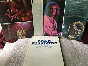 PETER FRAMPTON VINYL comes alive LP x2 with MUSIC ANTHOLOGY BOOK 1976 Tabs
