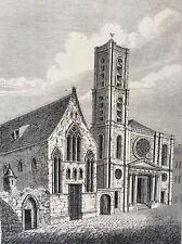 Paris Saint-Jacques-du-Haut-Pas séminaire Saint-Magloire estampe de 1856 France