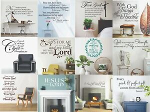 Christian Bible Verse  Vinyl Wall Art Sticker Religious Quote Bedroom Decoration