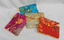 Chinese Embroidered Silk Coin Purse / Make Up Purse - Assorted Colours - BNIB