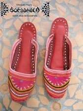 Ethno Nomad Tribal Schuhe slipper chaussures cuir Leder inde hippie goa 34 35