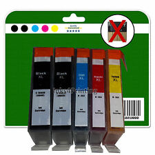 Any 5 non-chipped non-OEM Ink Cartridges for HP C309 C309g C309h 364 x5 XL