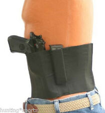 Belly Wrap Concealment Gun Holster for small-med Frame Guns Size Large Black