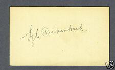 Lyle Rockenbach signed football index card