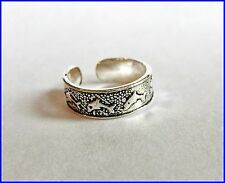 Sterling Silver (925) Adjustable Jumping Dolphins Toe Ring ! Brand New !