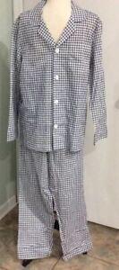 Fruit of the Loom Mens Long Sleeve Cotton Blend Broadcloth Pajama Set Sz S FreeS