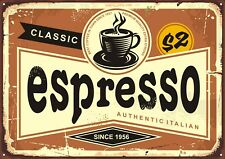 "Reproduction Vintage Italian ""Espresso"" Poster, Home Wall Art, Size: A2"