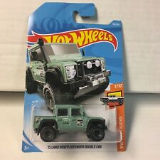'15 Land Rover Defender Double Cab #158 * Green * 2018 Hot Wheels * ZA22