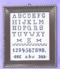 ABC Stickbild mit Rahmen Kreuzstickerei Handarbeit