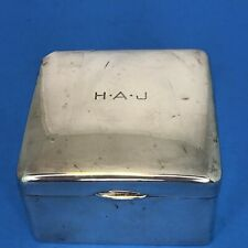 Adie Brothers 1923 Sterling Silver Square Box Birmingham England