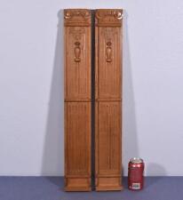 "*28"" Pair of Vintage French Carved Oak Wood Trim/Posts/Pillars"